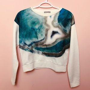ZARA W&B Collection Ocean Sweatshirt Double layers